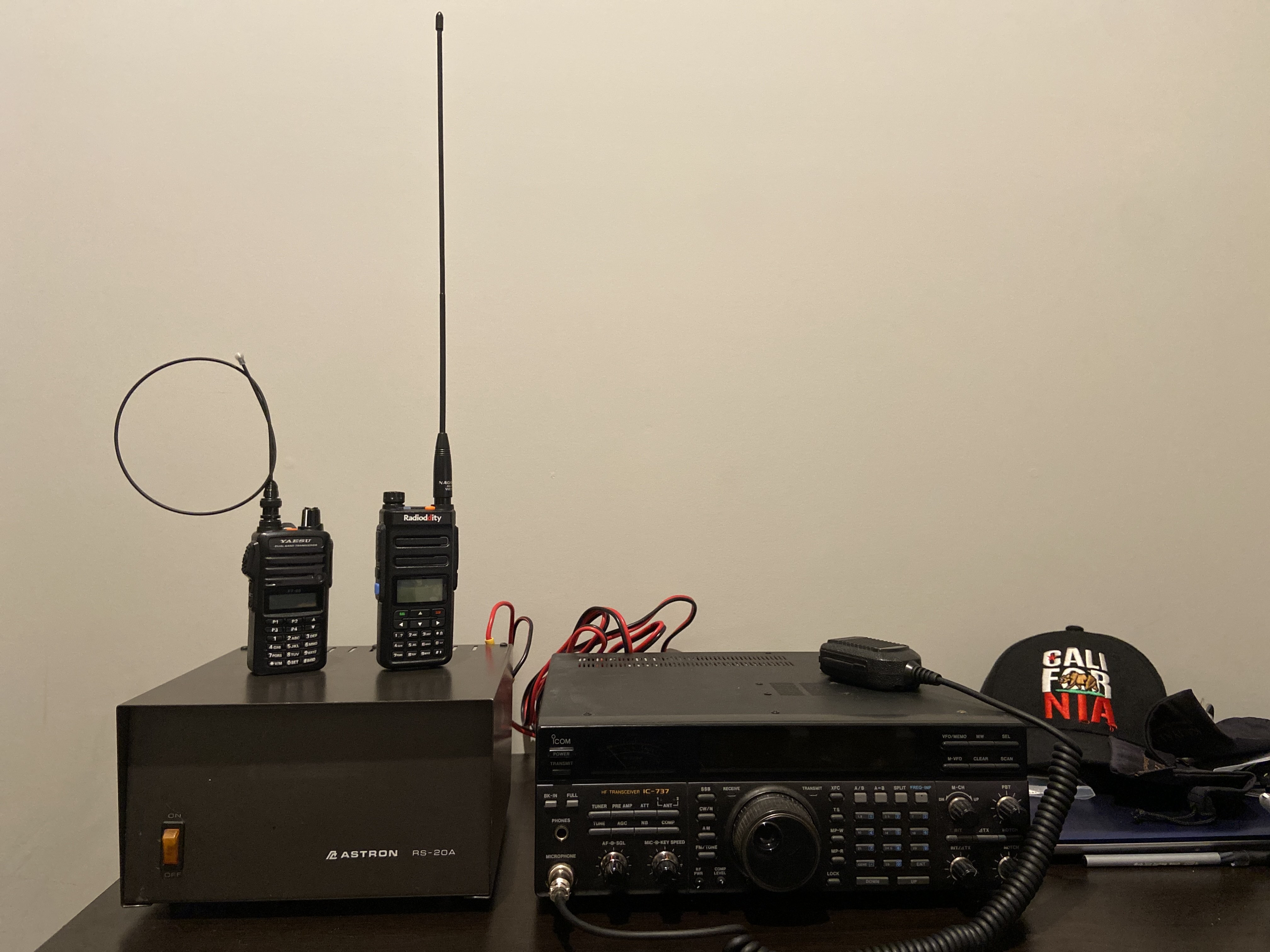 Image of all my amateur radio transceivers